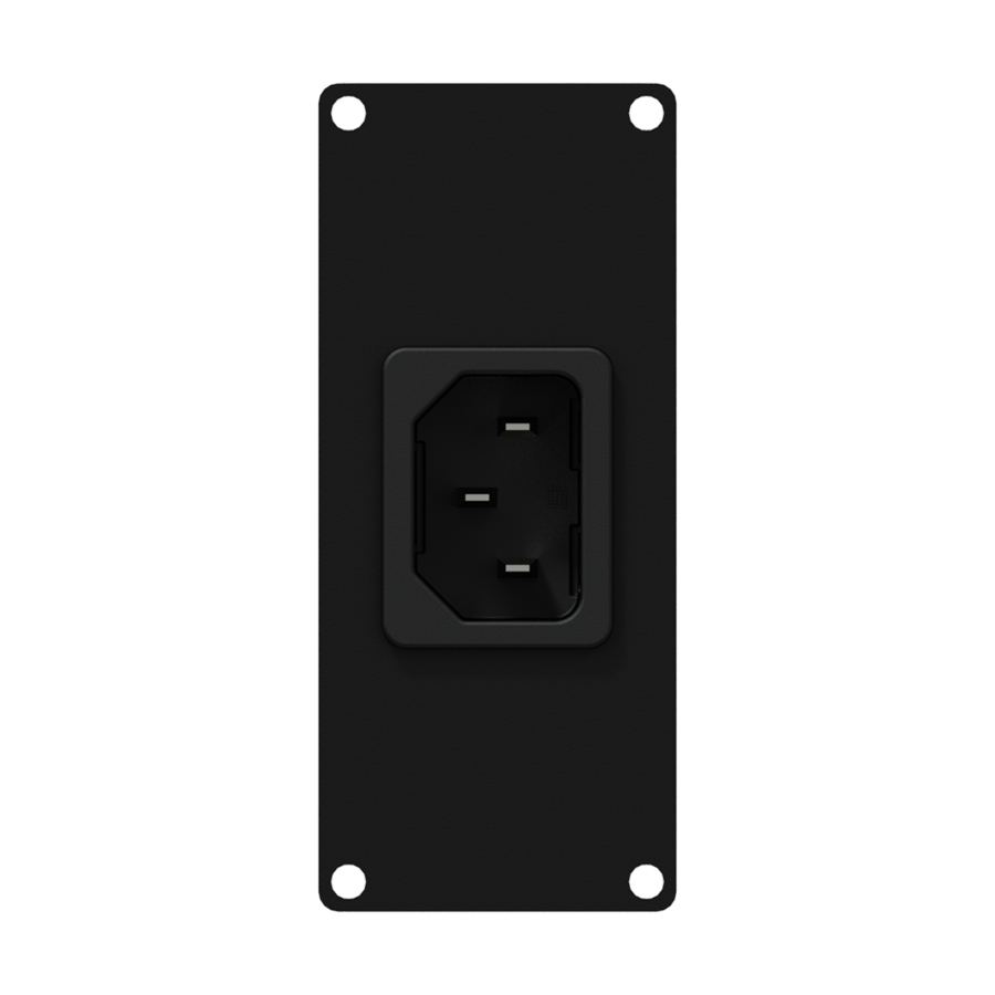 CASY 1 space euro power inlet socket. Black.