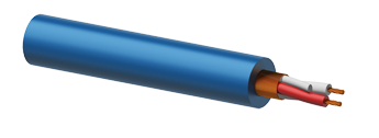 Microphone Cable 2 x 0.23mm² Blue - 100m