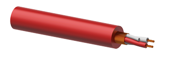 Microphone Cable 2 x 0.23mm² Red - 100m