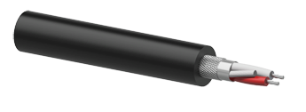 Microphone Cable 2 x 0.25mm² Black - 100m